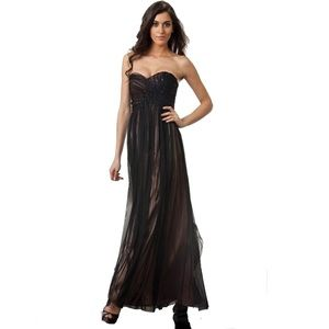 J S Collection Strapless Formal NWT